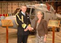 Dr Kate Clarke with Vice Admiral Adrian Johns, Second Sea Lord