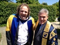 Pete Winkelman with Vice-Chancellor Martin Bean