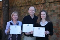 The OU award winning team: L-R Joanna Mack, Dr David Humphreys, Dr Jessica Budds