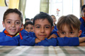 Boys from Al Muleiha primary school