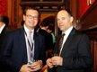 Prof James Fleck with Iain Stewart MP for Milton Keynes South
