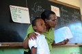 A teacher at Isithsaba Junior Primary School, South Africa
